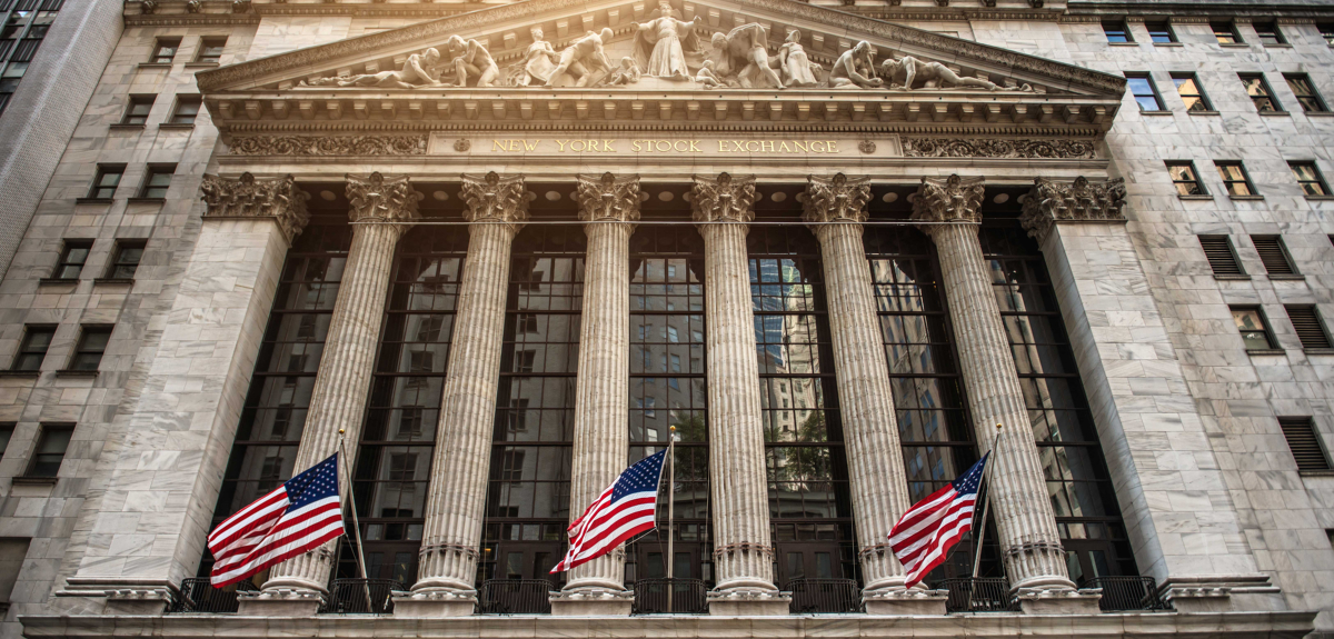 front view of new york stcok exchange building